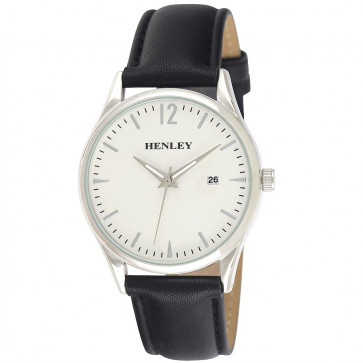 Minimal Calendar Watch - Black / Silver