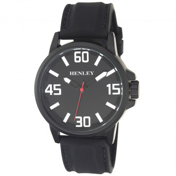 Contemporary 3D Sports Watch - Black