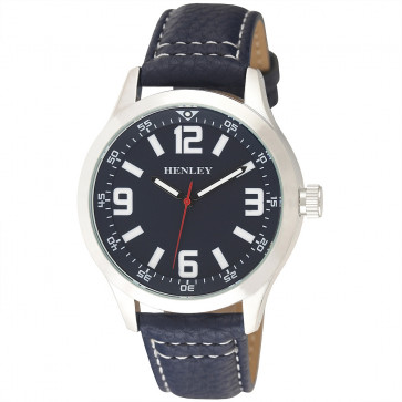 Contrast Stitch Watch - Blue / Silver