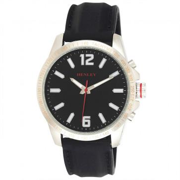 Lazer Cut Bezel Watch - Black