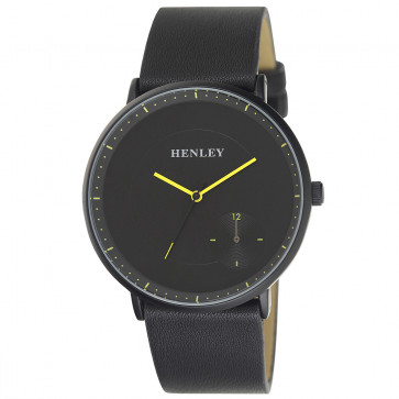 Contemporary Sub Dial Watch - Black / Yellow