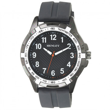 White Trim Sports Watch - Grey