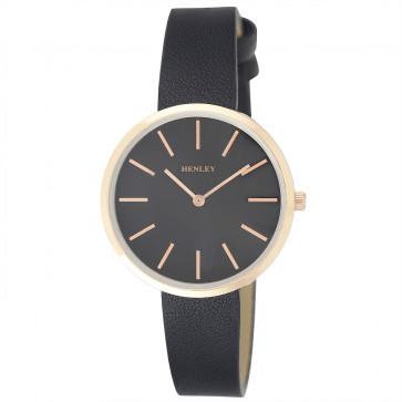 Shoulderless Watch - Black / Rose Gold