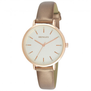 Metallic Strap Watch - Rose Gold