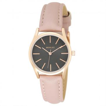 Slimline Contrast Watch - Pink / Grey