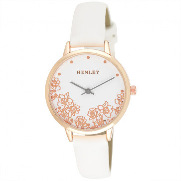 Filigree Floral Watch - White