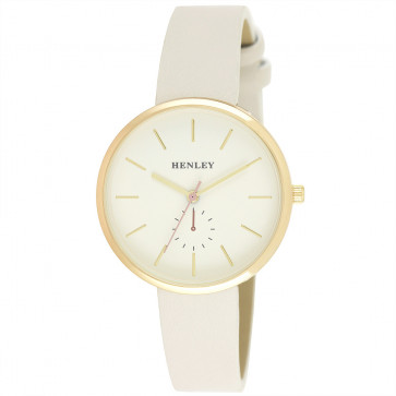 Minimal Gold Tone Watch - Grey