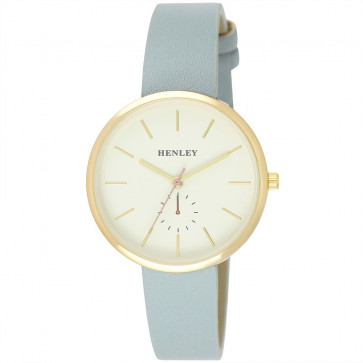 Minimal Gold Tone Watch - Blue