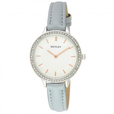 Contemporary Diamante Watch - Blue