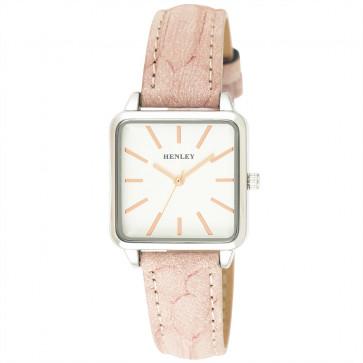 Lizard Grain Strap Watch - Pink