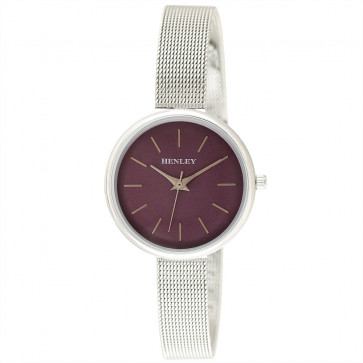 Metallic Top Loader Mesh Watch - Silver / Metallic Purple