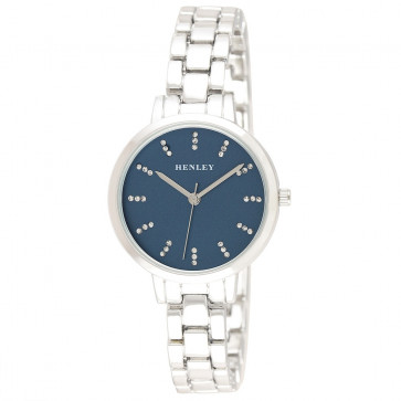 Petite Triple Index Watch - Silver / Blue