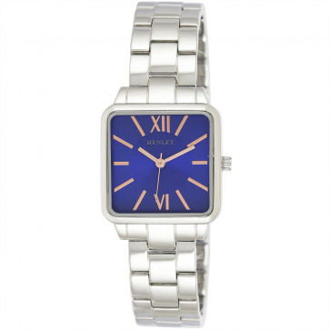 Classic Square Bracelet Watch - Blue