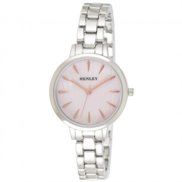 Mother of Pearl Bracelet Watch - Pink