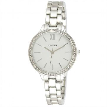 Minimal Diamante Watch - Silver Tone