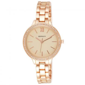 Minimal Diamante Watch - Rose Gold Tone