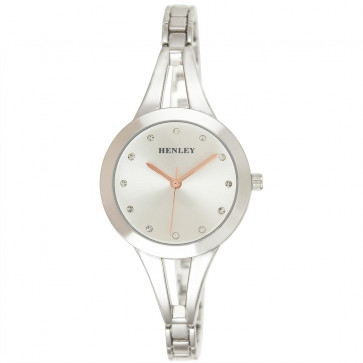Classic Half Bangle Watch - Silver Tone