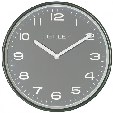 Modern Metal Pastel Clock - Slate Grey