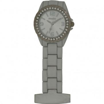 Women's Diamante Fob Watch - White