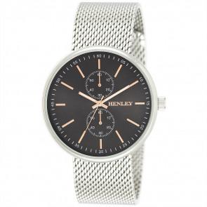 Sports Mesh Watch - Silver Tone / Black