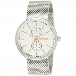 Sports Mesh Watch - Silver Tone / Rose Gold