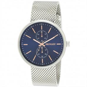 Sports Mesh Watch - Silver Tone / Blue