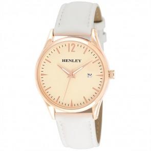 Minimal Calendar Watch - White / Rose Gold