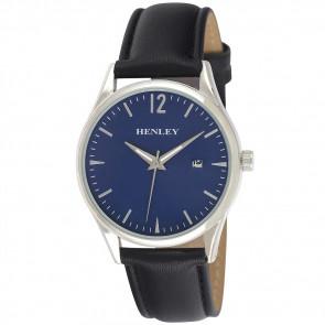 Minimal Calendar Watch - Black / Blue