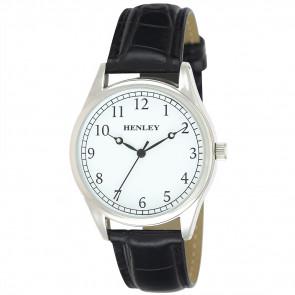 Traditional Croco Watch - Silver / Black