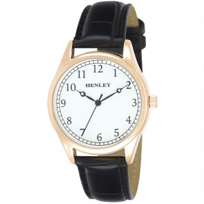Traditional Croco Watch - Rose Gold / Black