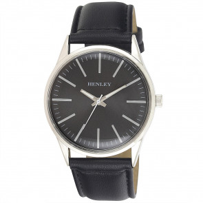 Contempory Index Watch - Black / Charcoal