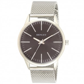 Contempory Index Mesh Watch - Black / Charcoal