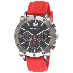 Screw Effect Gun Sports Watch - Red