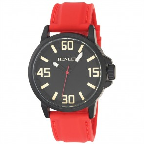 Contemporary 3D Sports Watch - Red