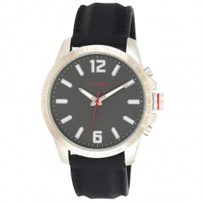 Lazer Cut Bezel Watch - Grey