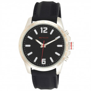 Lazer Cut Bezel Watch - Black