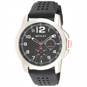 Silicone Crown Watch - Black
