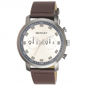 Raised Index Sports Watch - Brown