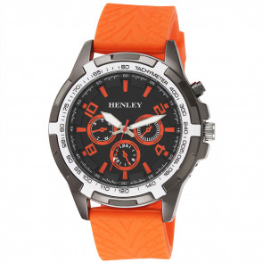 White Topped Sports Watch - Orange