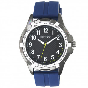 White Trim Sports Watch - Blue