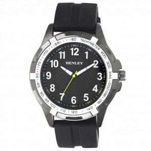 White Trim Sports Watch - Black