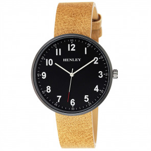 Slimline Distressed Watch - Camel Brown