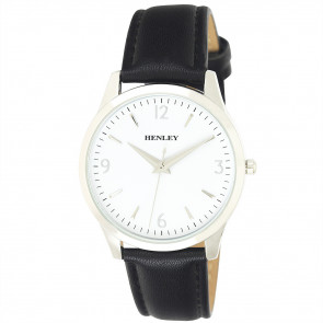 Contemporary City Watch - Black / White Dial