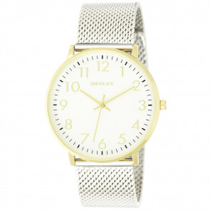 Contemporary Numbered Mesh Watch - Gold Tone