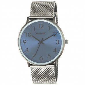 Contemporary Numbered Mesh Watch - Black