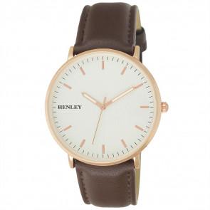 Pinstripe Watch - Brown