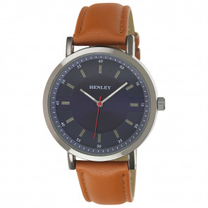 Textured Face Watch - Tan
