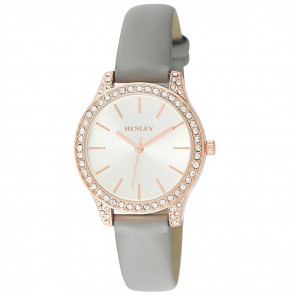 Petite Stone Set Watch - Grey