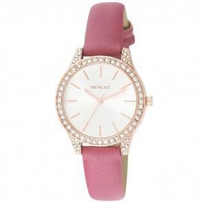 Petite Stone Set Watch - Pink