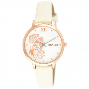 Filigree Butterfly Watch - White
